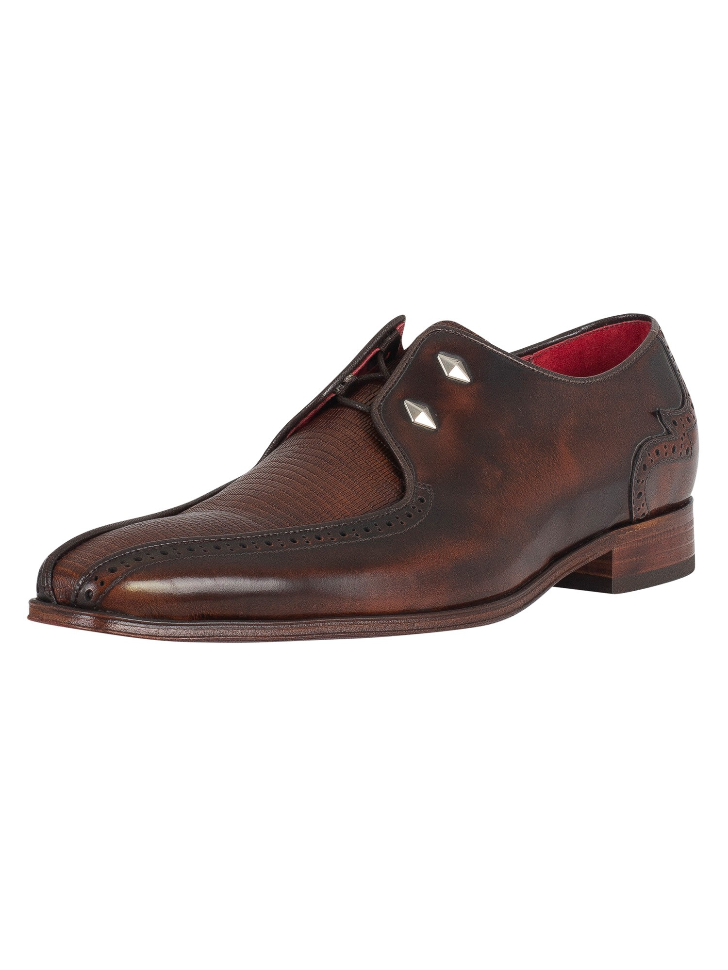 Jeffery Uomo West Uomo Jeffery Scarface lucido Shoes, Marrone 49d476