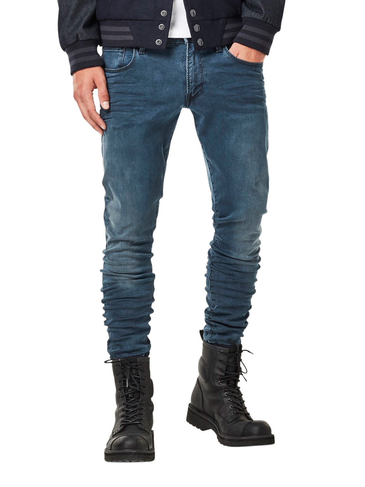 Mens 3301 Deconstructed Super Slim Skinny Jeans G-Star Outlet Limited Edition Clearance Brand New Unisex XDRbqJ