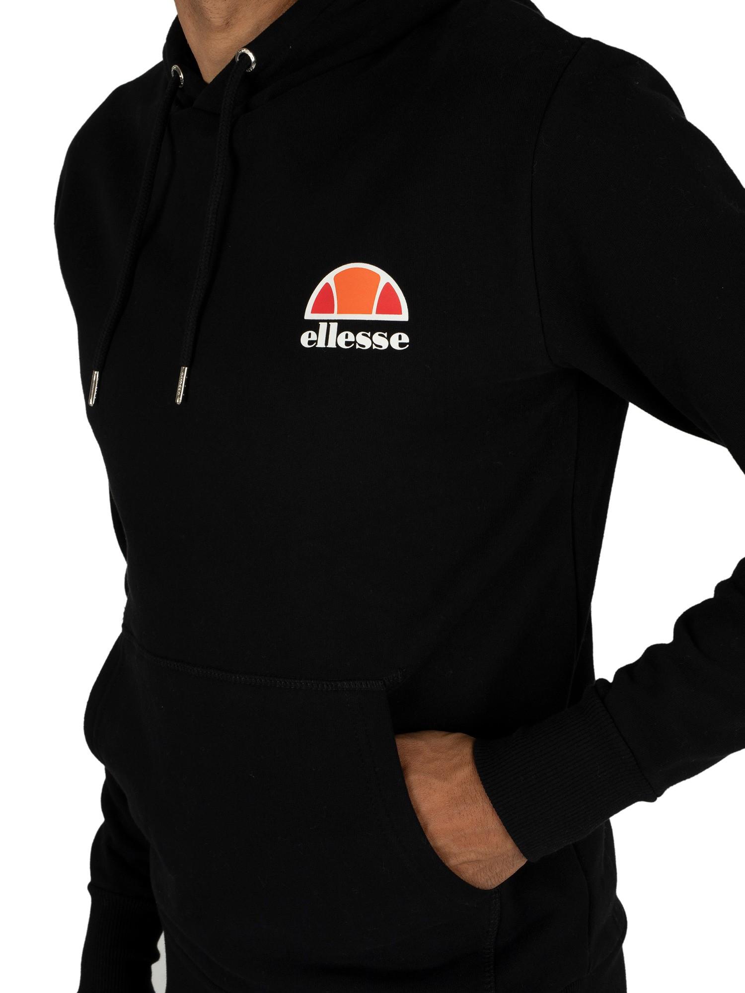 Uomo Logo Sinistra Nero Toce Cappuccio Con Ellesse a7qdHwZd