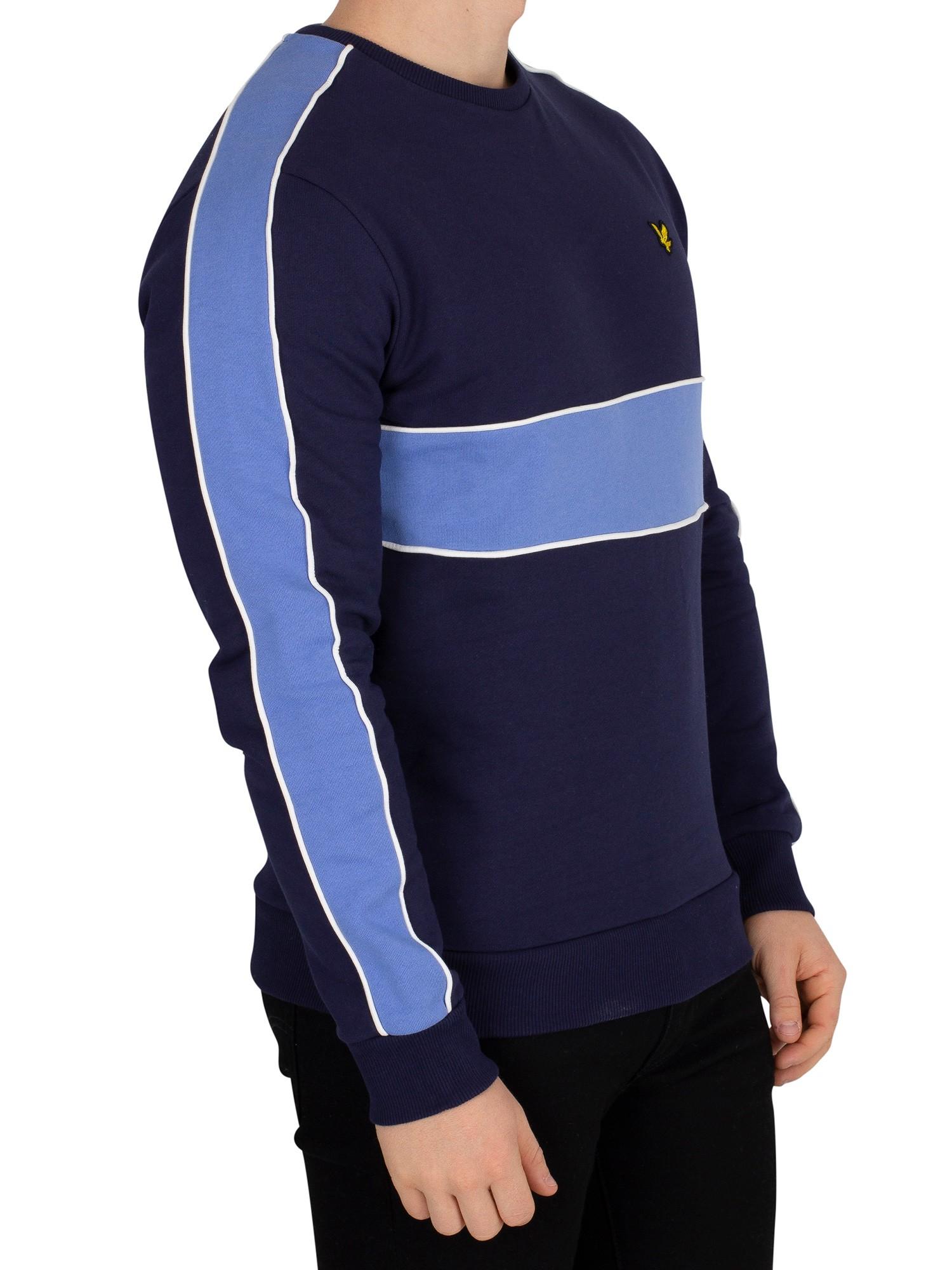 Lyle & & & Scott Herren Sweatshirt zuschneiden & nähen Blau 111911