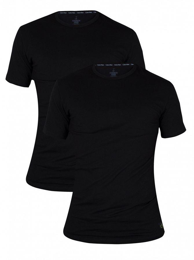 Calvin Klein Black 2 Pack Crew Neck T-Shirts
