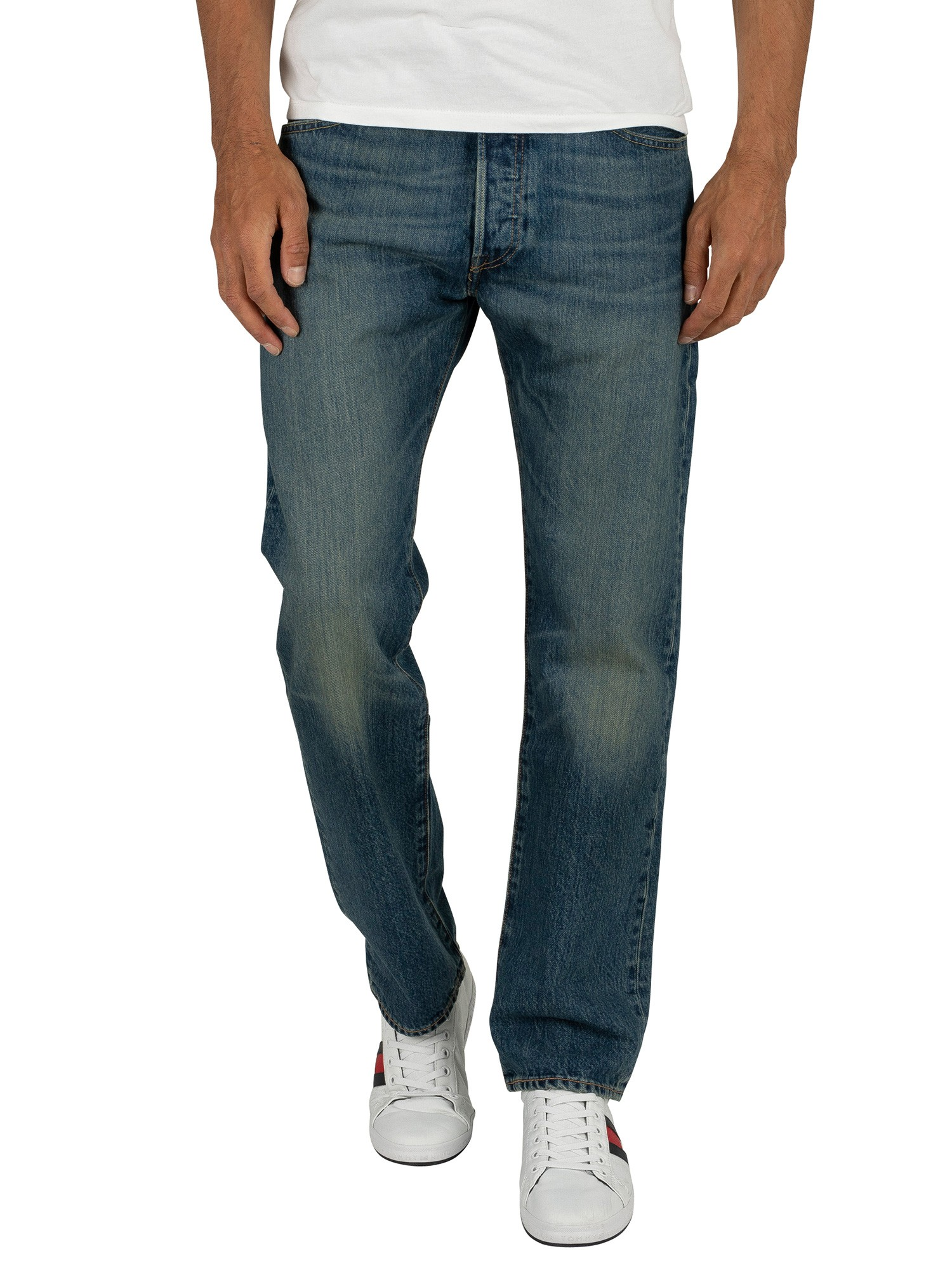Levi's Men's 501 Regular Fit Jeans, Blue