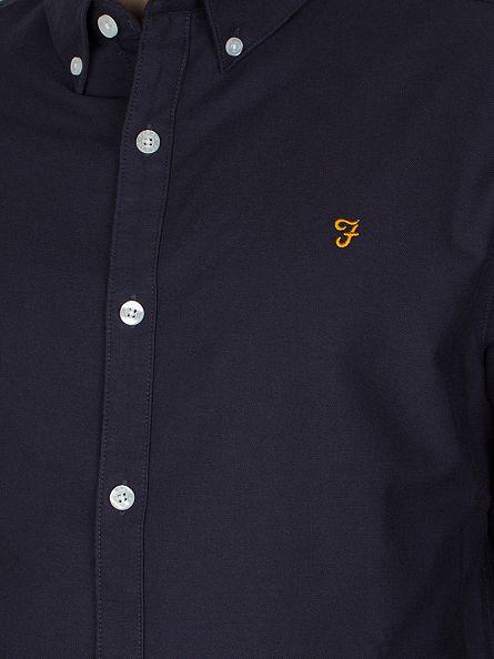 Farah Vintage Navy The Brewer Shirt