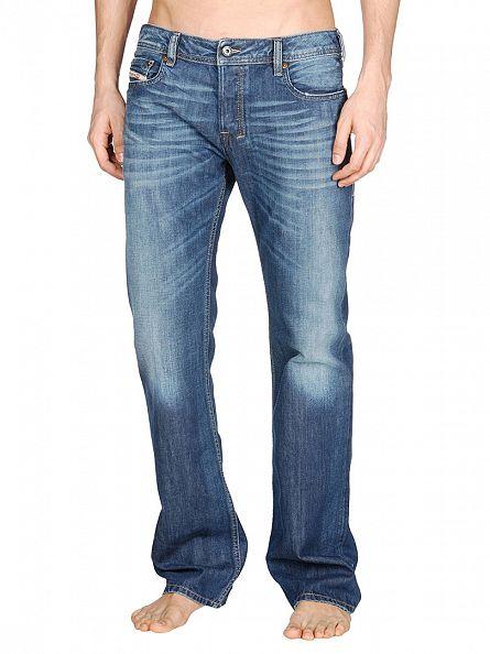 Diesel Medium Wash Zatiny 8XR Bootcut Jeans