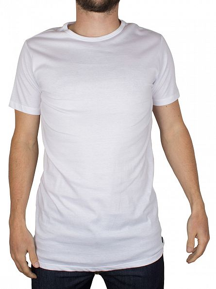 Diesel White Dave Crew Neck 2 Pack T-Shirts