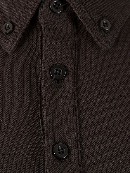 Farah Vintage Black The Merriweather Longsleeved Polo Shirt