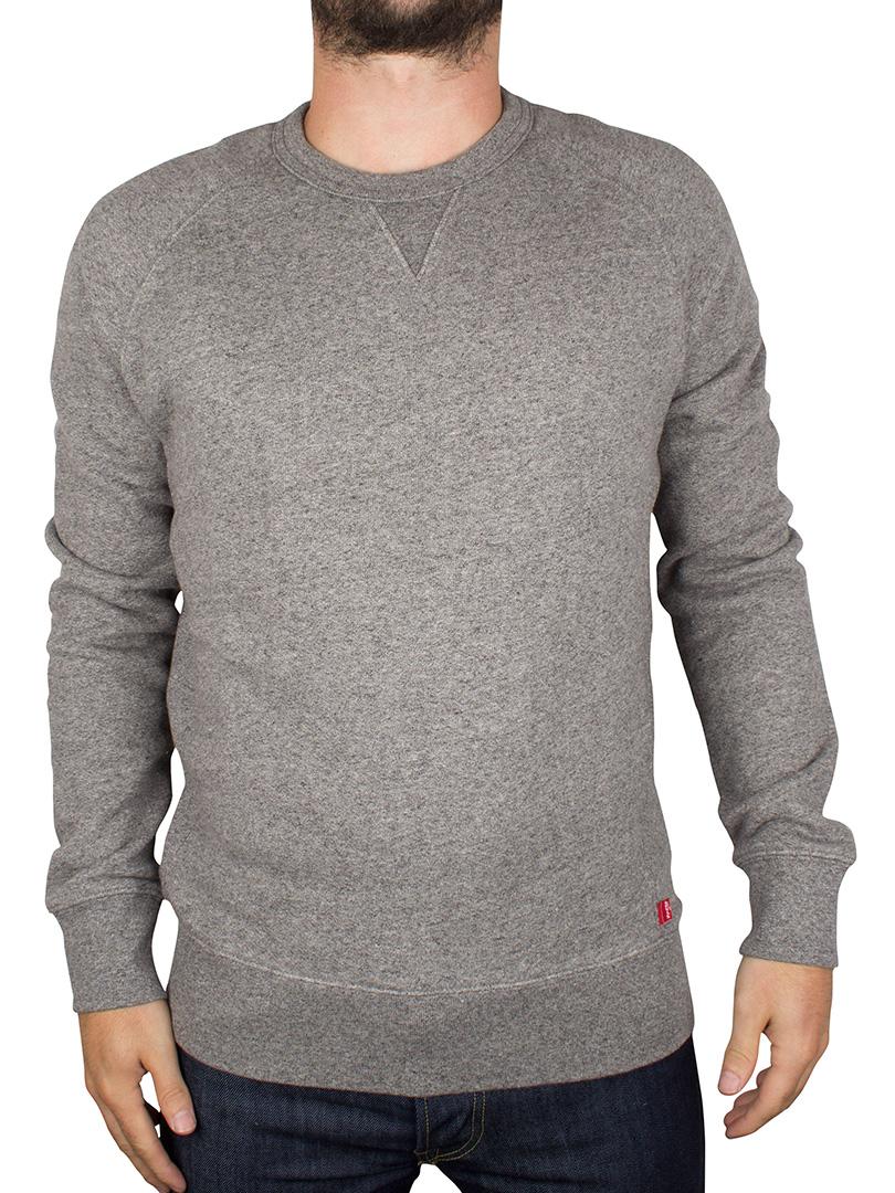 levi 39 s herren original crew neck sweatshirt grau ebay. Black Bedroom Furniture Sets. Home Design Ideas