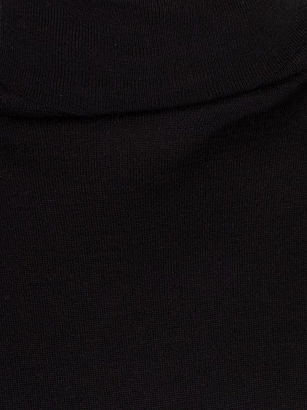 John Smedley Black Richards Roll Neck Knit