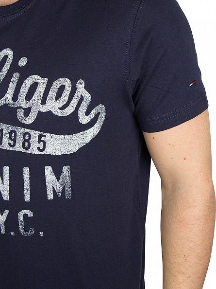 Hilfiger Denim Black Iris Navy Tommy Logo T-Shirt