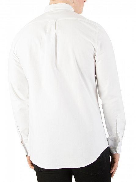 Farah Vintage White Brewer Slim Longsleeved Shirt