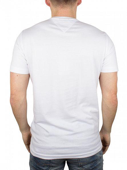 Hilfiger Denim White Tommy Logo T-Shirt