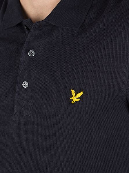 Lyle & Scott New Navy Longsleeved Polo Shirt