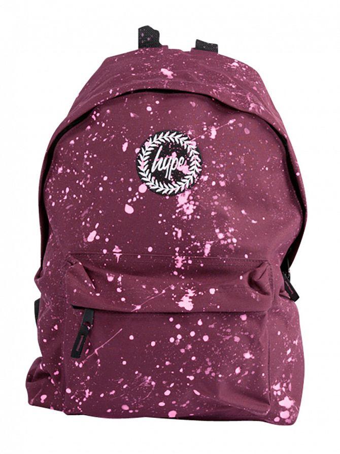 Hype Burgundy/Pink Speckle Backpack