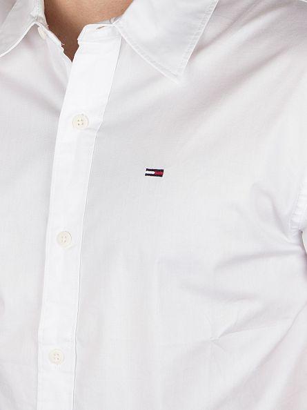Hilfiger Denim Classic White Sabim S1 Plain Shortsleeved Shirt