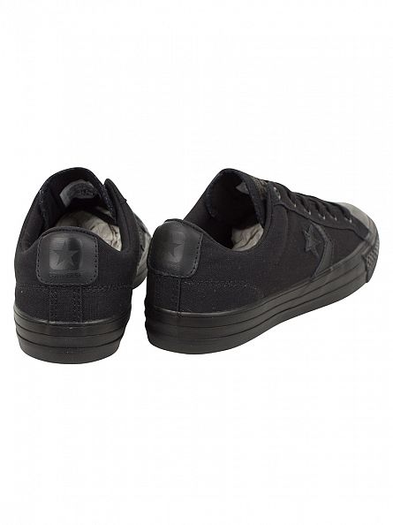 Converse Black/Black Star Player OX Trainers