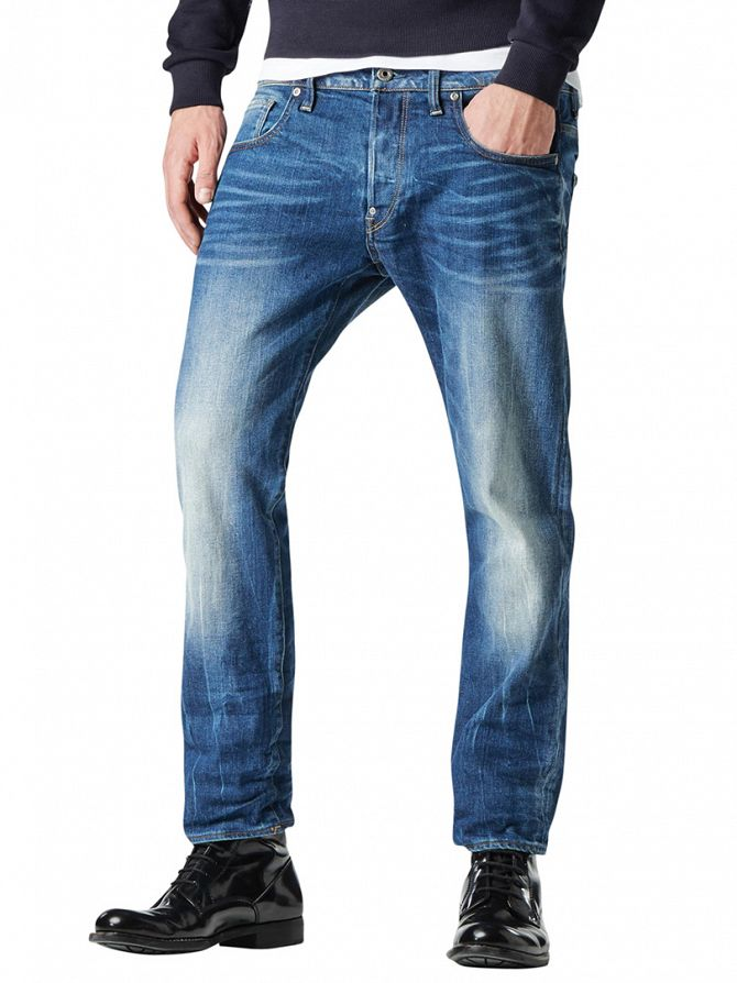G-Star Medium Aged Revend Straight Denim Jeans