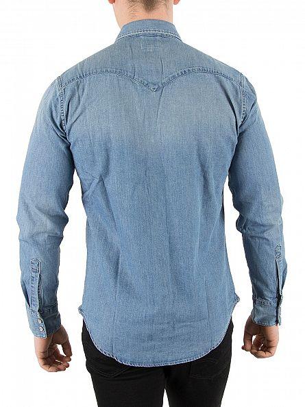 Levi's Red Cast Stone Barstow Western Denim Shirt