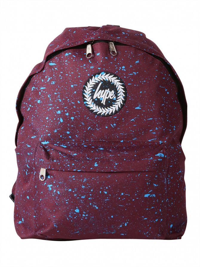 Hype Burgundy/Blue Speckle Backpack