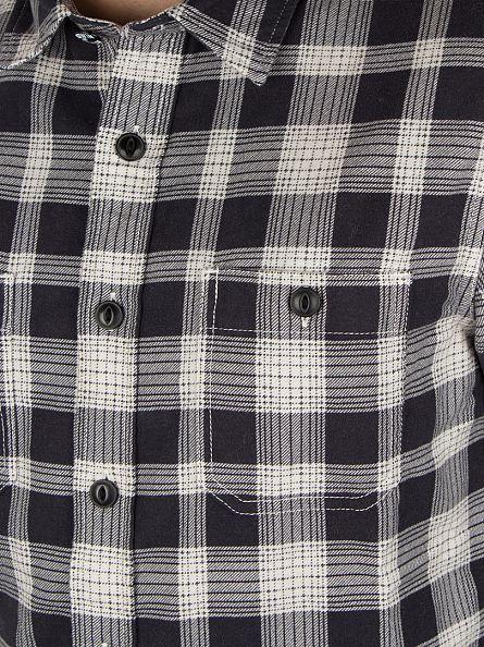 Edwin Black Print Checked Print Longsleeved Labour Shirt