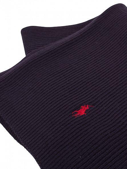 Polo Ralph Lauren Hunter Navy Rib Logo Scarf