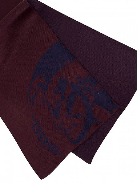 Diesel Red Dubo Graphic Scarf