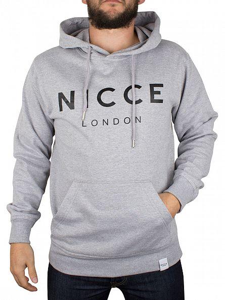 Nicce London Grey Original Logo Hoodie