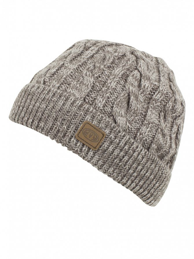 Animal Pewter Knitted Fur Lined Beanie