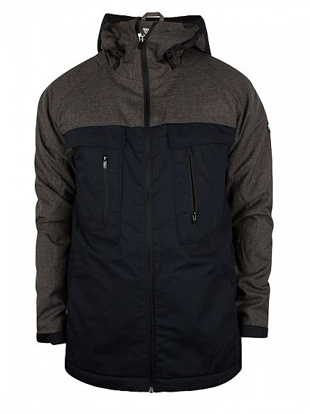 Original Penguin Dark Charcoal Heather Imperial Hooded Sport Jacket