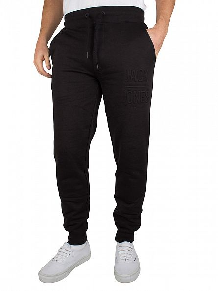 Jack & Jones Black Gary Logo Joggers