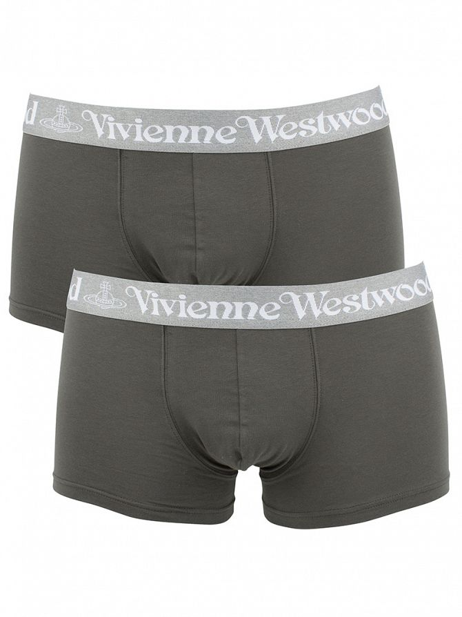 Vivienne Westwood Grey 2 Pack Logo Trunks