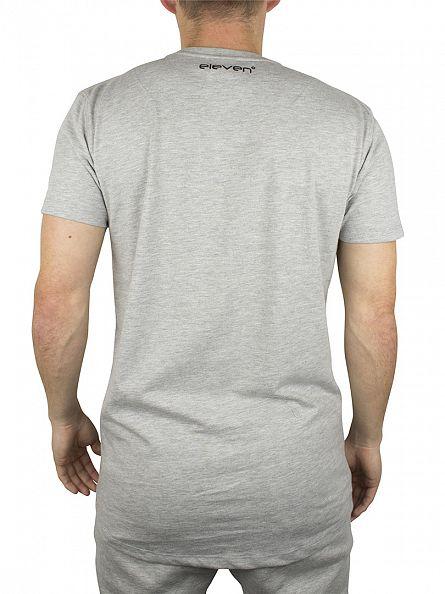 11 Degrees Grey Melange Brand Carrier Logo T-Shirt