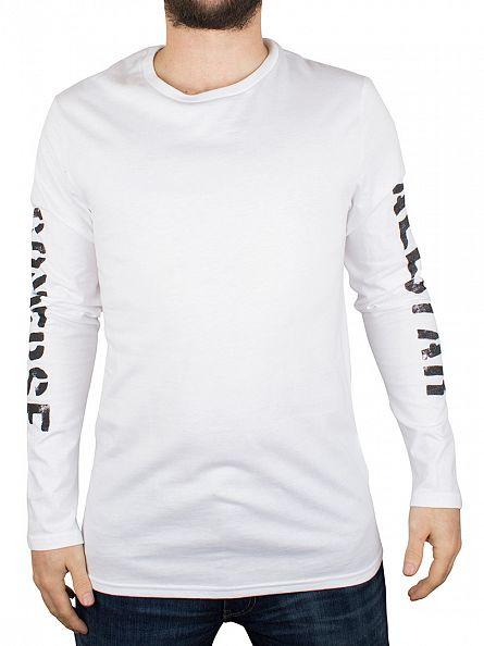 Converse White Stencil Longsleeved T-Shirt