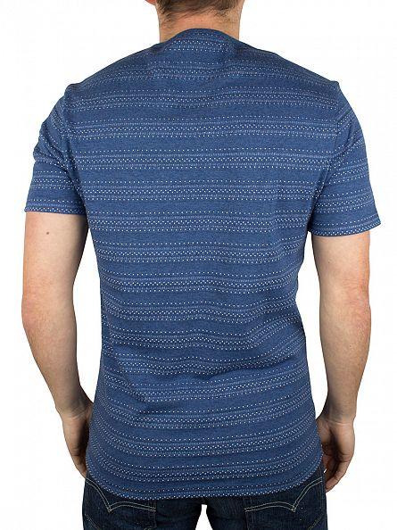 Original Penguin Dark Denim Novelty Jacquard Pattern Pocket T-Shirt