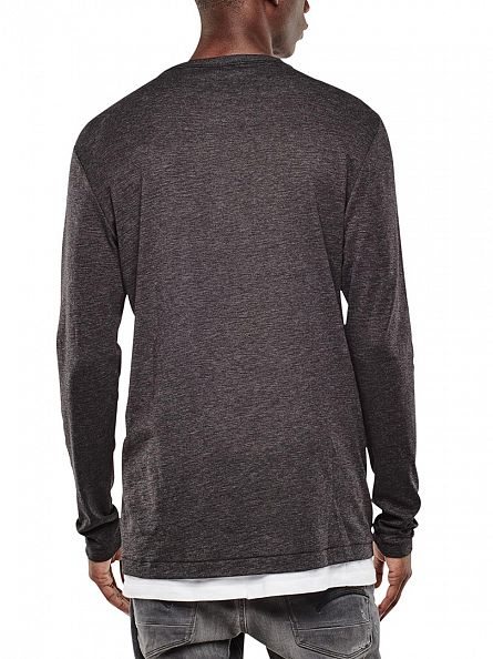 G-Star Black Mazuren Grandad Longsleeved Pocket T-Shirt