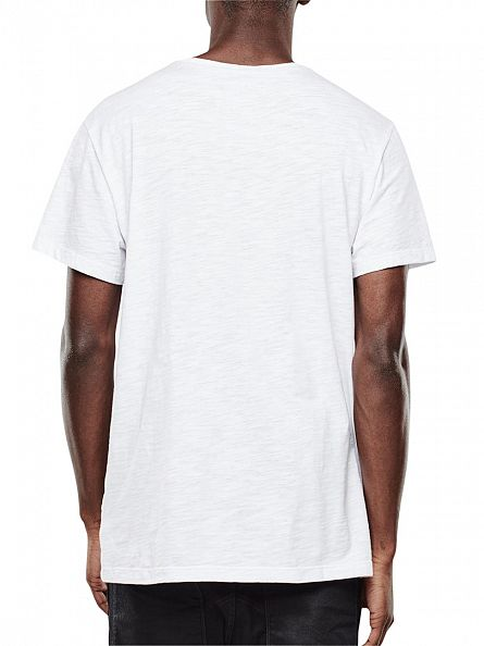 G-Star White Lenk Raw Graphic T-Shirt
