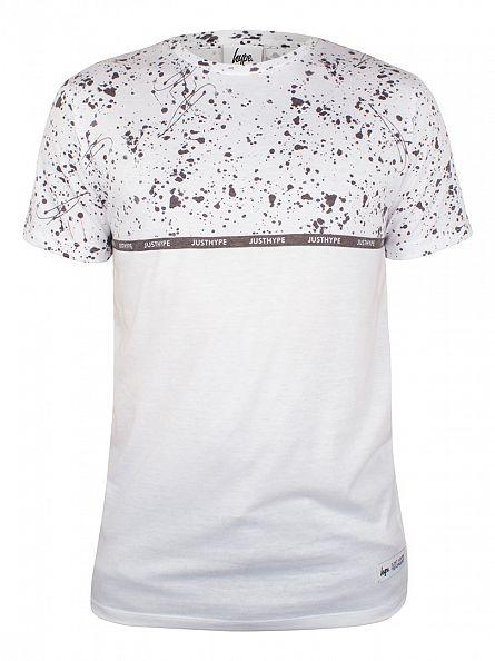 Hype White/Black Pollock Splat Print T-Shirt