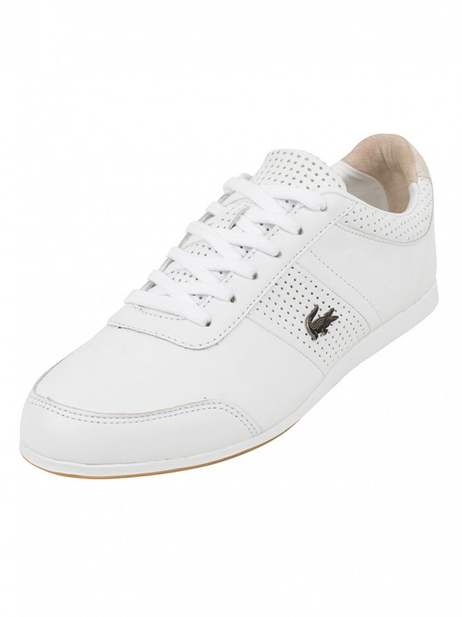 Lacoste White Embrun 116 2 CAM Trainers