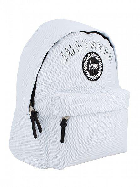 Hype White Mesh Arch Logo Backpack