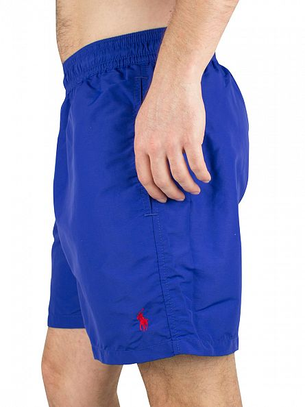 Polo Ralph Lauren Rugby Blue Hawaiian Boxer Logo Swim Shorts