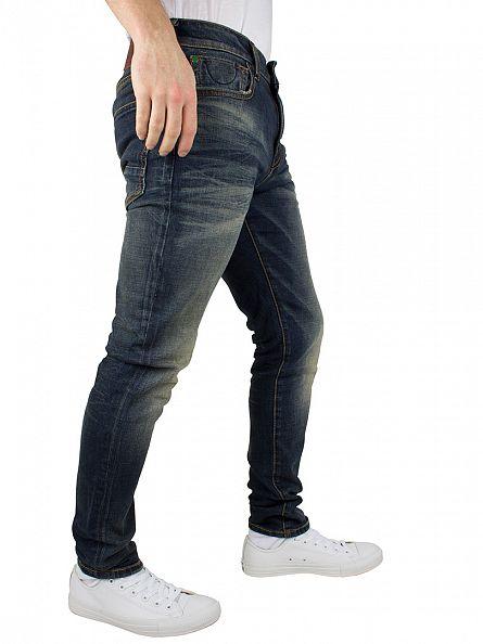 Scotch & Soda Denim Blue Skim Hocus Pocus Skinny Fit Jeans