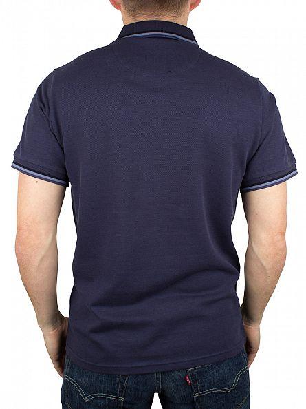 Original Penguin Dark Denim Tipped Logo Polo Shirt