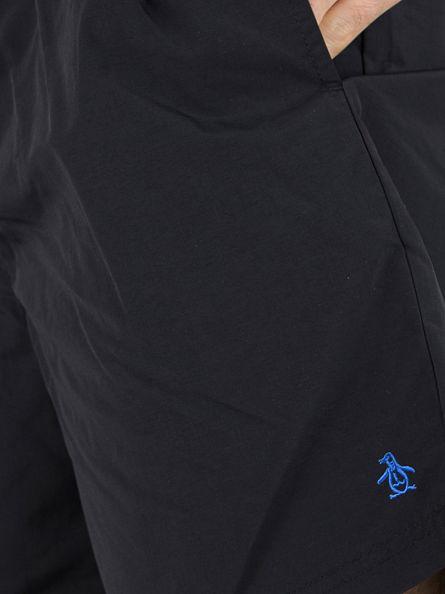 Original Penguin True Black Daddy Logo Swim Shorts