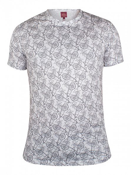 Vivienne Westwood White All Over Print T-Shirt