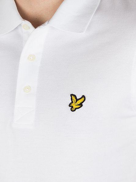 Lyle & Scott White Logo Polo Shirt