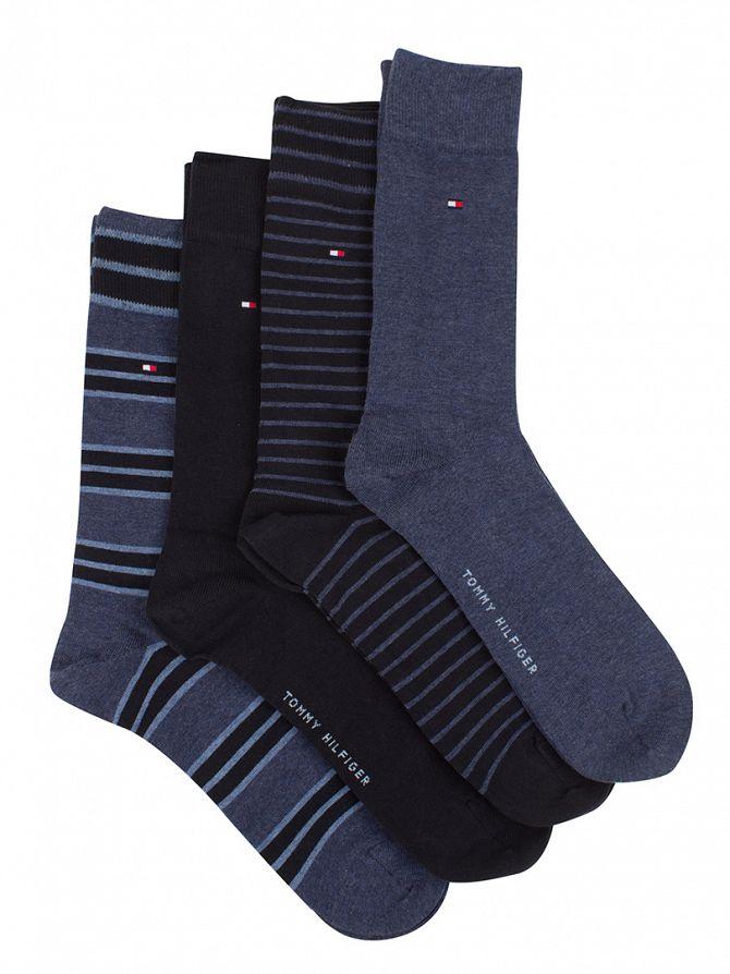 Tommy Hilfiger Dark Navy 4 Socks Gift Box