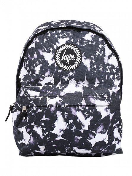 Hype White/Black Monotone Logo Backpack