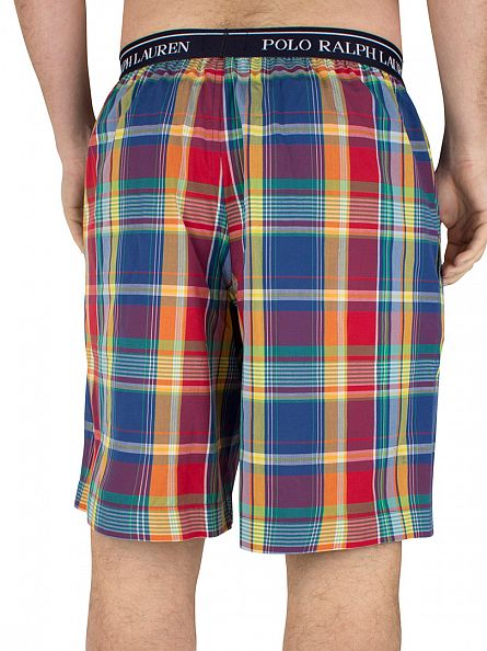 Polo Ralph Lauren Multi Logo Mallorca Plaid Pyjama Short Sleep Shorts