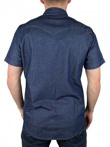 Levi's Medium Wash Classic Western Summer Wash Shortsleeved Denim Shirt