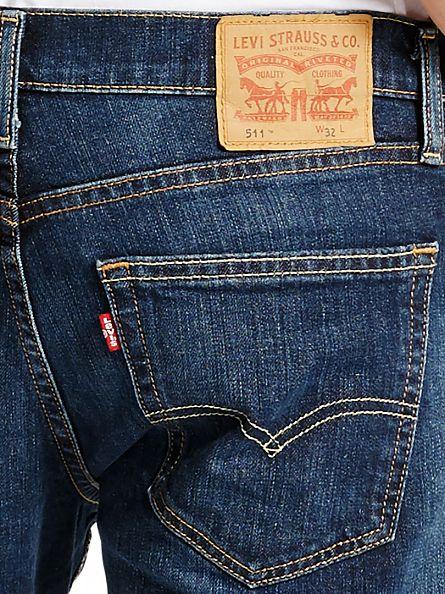 Levi's Dark Denim 511 Slim Diaz Denim Shorts