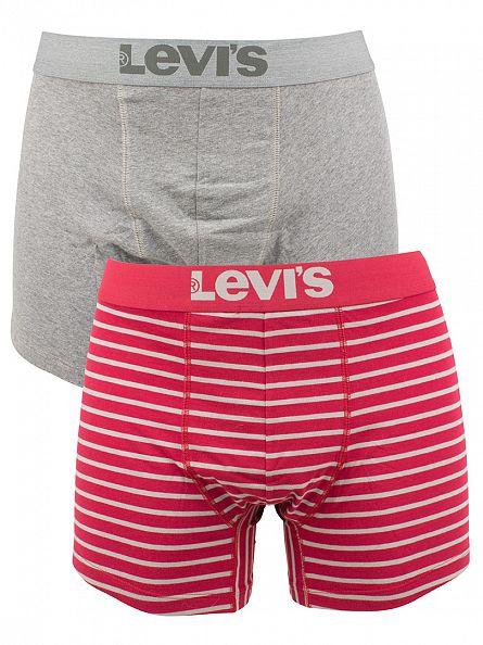 Levi's Rio Red 2 Pack 200SF Striped Cotton Stretch Boxer Briefs